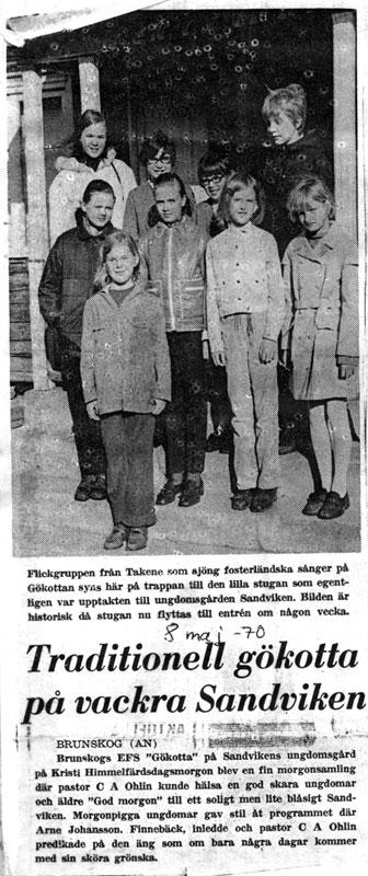 DAWN piknik å HØRE FØRSTE fuglesang 1970
