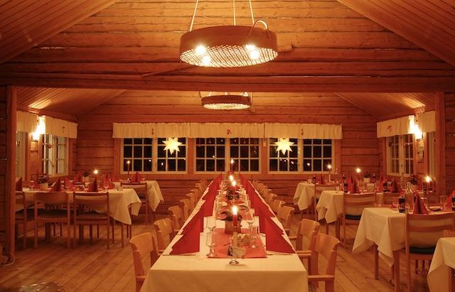 Kerst tafel setting